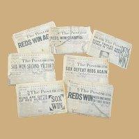 1919 World Series Cincinnati Post Newspapers Scorecards Shoeless Joe Jackson