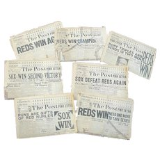 1919 World Series Cincinnati Post Newspapers Scorecards Shoeless Joe Jackson