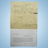 1897 New Mexico Territory Dona Ana County Arrest Warrant for Horse Thief