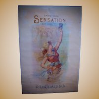 Exceedingly RARE Sensation Cut Plug Tobacco Advertising Poster