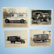 Frankfurter's Biscuits and Ice 1920's Delivery Truck Photographs