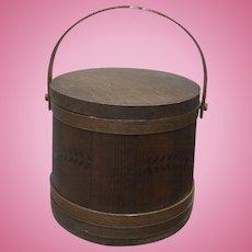 The BEST c.1870 Sugar Bucket Firkin with Lid