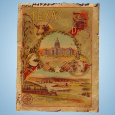 1891 Texas of Today Travelers Protective Association of America Catalog
