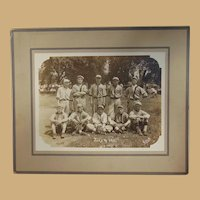 Santa Fe Railroad All-Star Baseball Team Photograph July 4 1911