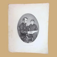 Civil War Abraham Lincoln with son Tad
