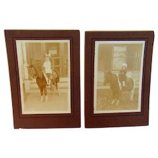 My New Pony   Cabinet Photos of two Blessed Sisters in 1910