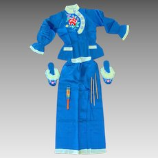 World War 2 Japanese Pajama Set Kimono with Shoes, Robe and Fan