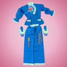 World War 2 Japanese Pajama Set Kimono with Shoes, Robe and Fan