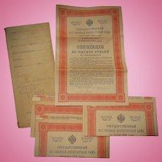 1916 Russian Imperial Bonds in original envelope