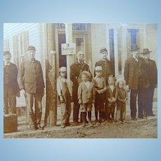Cabinet Photo of Civil War Vets,Railroad Workers- Weidemann Beer & Baseball Caps