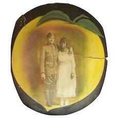 Two World War 1 Georgia Peaches at Camp Gordon Black Soldier & Wife