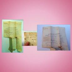 1840 Last Will and Testament of Clock-maker John Osgood Hanverhill, New Hampshire