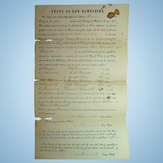 Hanover,New Hampshire Election of State Representatives in 1840 Daniel Blaisdell Issac Fellows