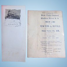 1883 New York Central and Hudson River Time Table