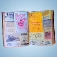 The Holy Grail Scrapbook of 19th century Railroad Passes from Ralph Blaisdell estate