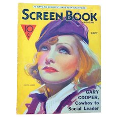 1933 Greta Garbo  Screen Book Magazine