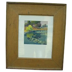 William Eppens Oil Painting On Golden Pond c.1919 - Red Tag Sale Item
