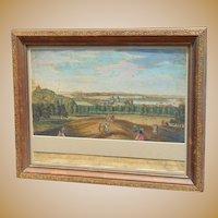 1746 A View from one Tree-Hill in Greenwich Park -- Prospect de la Colline appelle one Tree-Hill en Greenwich Parc