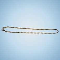Italian 14kt. Yellow Gold  Rope Necklace