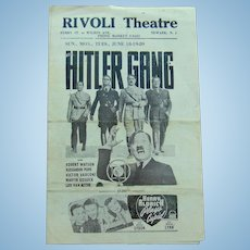 World War 2 Rivoli Theater playbill from Adams County, Nebraska HITLERS GANG