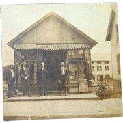 E.A. Dewey's News Store in Ruthven, Illinois Cabinet Photo~ Coke-Cola ,Baseball & Postcards