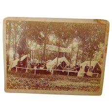 Bone Crushing High Wheel Bicycle and Plenty of Beer  1887 Albumen photograph