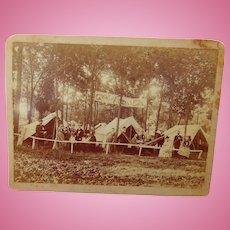 Bone Crushing High Wheel Bicycle and Plenty of Beer  1887 Albumen photograph