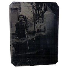 Let's Go Fishing with Coal  1870 Tintype Photos