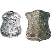 Two Unique Obsolete  Detroit Police Department Badges