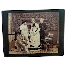 Our American Cousin 1890's Cabinet Photo of Play & Performers