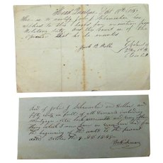 1839 Military Board Exemption Pass John Schumacher