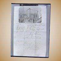 Kimball House Davenport,Iowa Buffalo Bill Wild West Show Photograph 1883