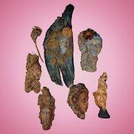 Incredible Fantasy Wood Carvings of Mystic Figures Elves,Goblins,Faires