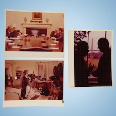 Unpublished Photos Richard Nixon & Lyndon Johnson December 1968