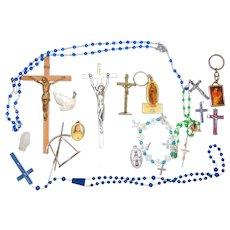Catholic Vintage Prayer Rosaries ,Crucifix's and Memento's of Edith Picallo
