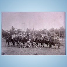 Buffalo Bill's Wild West Show  Cheyenne & Apache Warriors Photographs