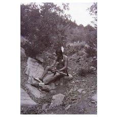 Fabulous Cheyenne Warrior Photograph Powell Expedition 1875