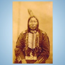 D.F. Barry Cabinet Potograph of Crow King, Hunkpapa Sioux Bismark D.T.