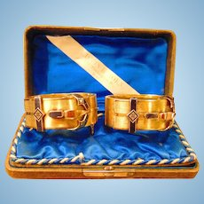 Amazing Victorian 18 kt. Gold Matching Bracelets 88.6 grams