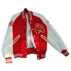 1950's High School Football Players Letterman Jacket