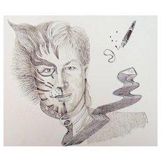 Riveting Self-Portrait of Artist