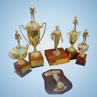 Collection of  Liquor Whiskey Award Trophies Don W.Snyder Co. of Hollywood,Ca.