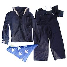 World War 2 Navy Uniform with Burial Flag