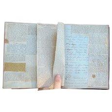 Incredible 19th century Port Lake Charles,Louisiana Diary Recipe Book of Grant Mutersbaugh