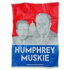 1968 Hubert H.Humphrey-Ed Muskie for President RWB plastic Jugate poster