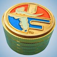 24k. Gold Leaf Florida Gators SEC Presentation Golf Tournament Clock c.1960's