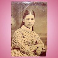 Tintype photo of Native American Girl