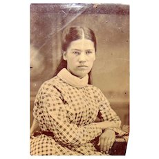 Tintype photo of Native American Girl