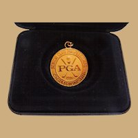 PGA Senior Golf Championship Gold Filled Award Medal Presented to Al Kelley,Jr.