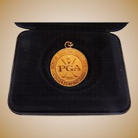 PGA Senior Golf Championship Gold Filled Award Medal Presented to Al Kelley,Jr.